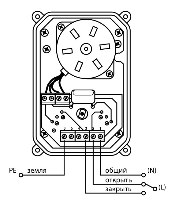 Кран с электроприводом NEPTUN BUGATTI PRO 220В 2 Дюйма